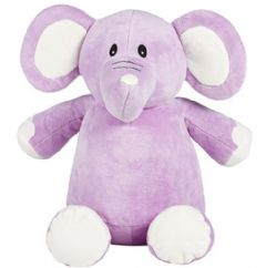 Personalised Elephant Cubbie Teddy - Lilac *Limited*